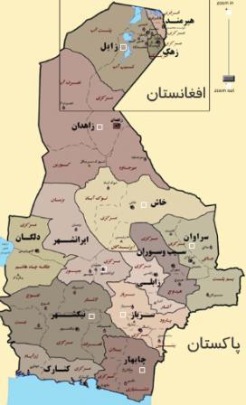 نقشه استان