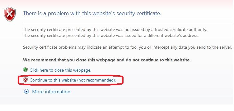 صفحه گواهی امنیتی دریافت فیش حقوقی